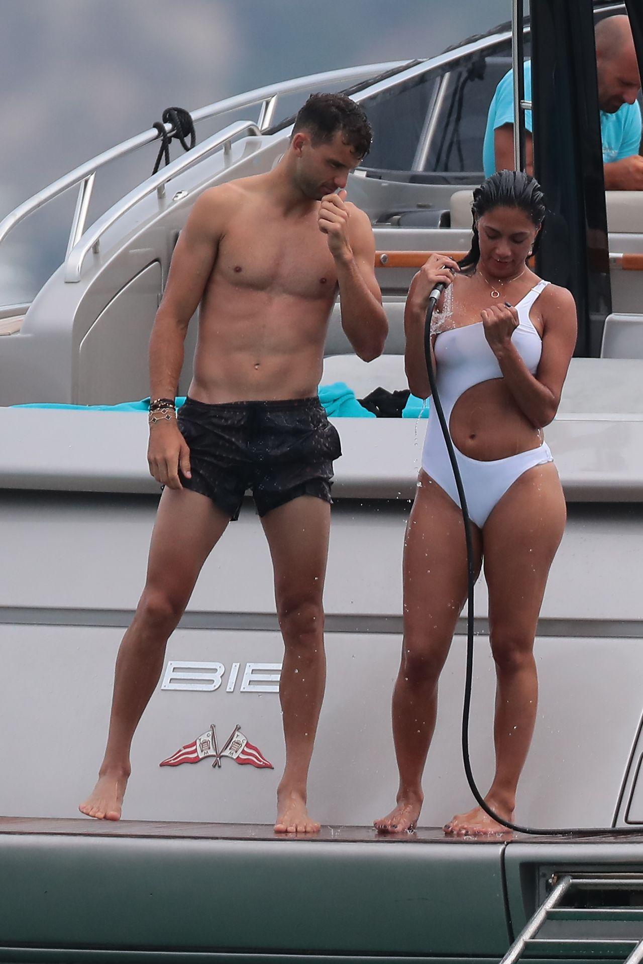 Nicole Scherzinger And Grigor Dimitrov In Saint Tropez 07 22 2018
