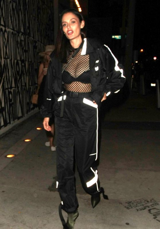 Nicole Trunfio Sports a Track Suit  at Craig