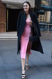 Nicole Trunfio Style - Leaves the Morning Show in Sydney 07/16/2018