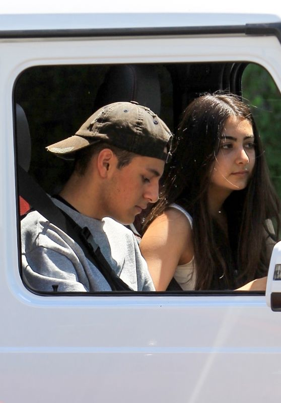 Nicolette Gray in her G Wagon on Canon Dr in Beverly Hills