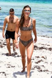 Nina Agdal in Bikini - Miami 07/13/2018