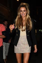 Olivia Attwood Night Out Style - Cafe De Paris in London 07/24/2018