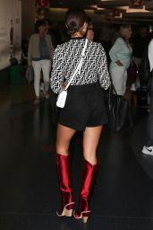 Olivia Culpo is Stylish at LAX in Los Angeles 07/25/2018