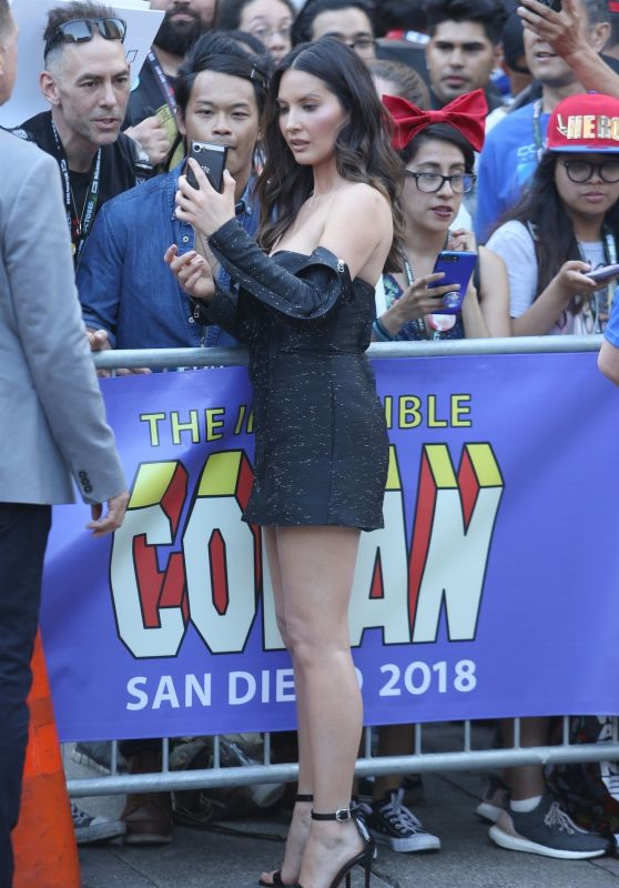 "Olivia Munn - Filming of ""Conan"" at San Diego Comic Con"