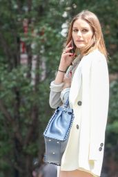 Olivia Palermo Waiting for a Cab in New York