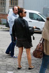 Paula Echevarria - Arriving to a Film Studio in Barcelona 07/25/2018