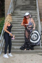 Phoebe Price and Marcela Iglesias on the Beach in Malibu 07/22/2018