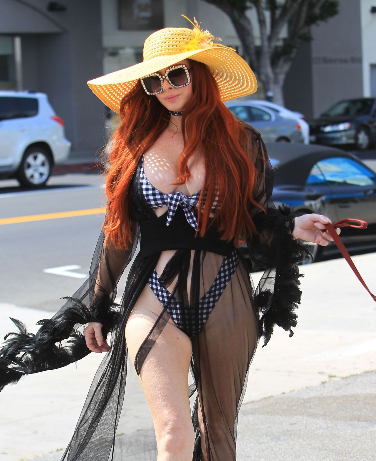Phoebe Price Pumps Gas in Beverly Hills 07/07/2018