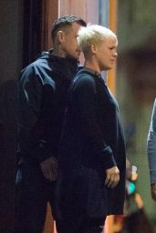 Pink and Husband Carey Hart in Melbourne 07/25/2018
