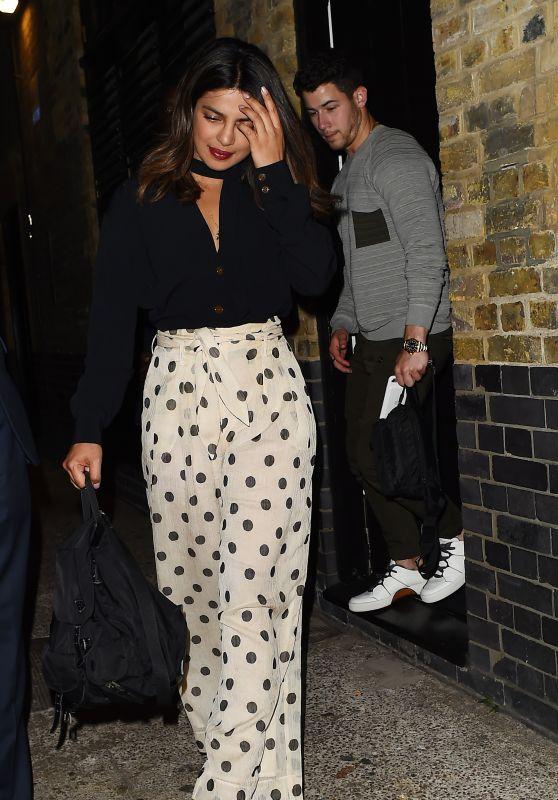 Priyanka Chopra and Nick Jonas - Leaving The Chiltern Firehouse in London 07/18/2018