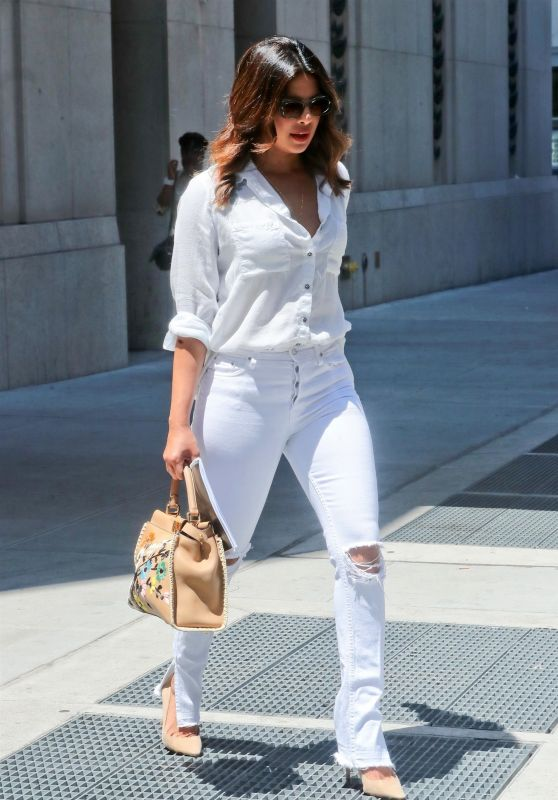 Priyanka Chopra in all White in New York City 07/05/2018