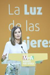 "Queen Letizia of Spain -""Mujeres por Africa"" Foundation Meeting in Madrid 07/03/2018"
