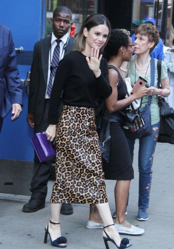 """Rachel Bilson - Leaving """"Good Morning America"""" in New York 07/02/2018"""