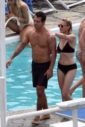 Robin Wright and Clement Giraudet in Capri 07/22/2018