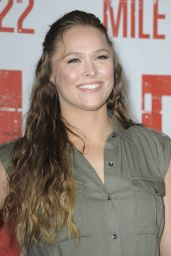 """Ronda Rousey - """"Mile 22"""" Photocall in Los Angeles"""