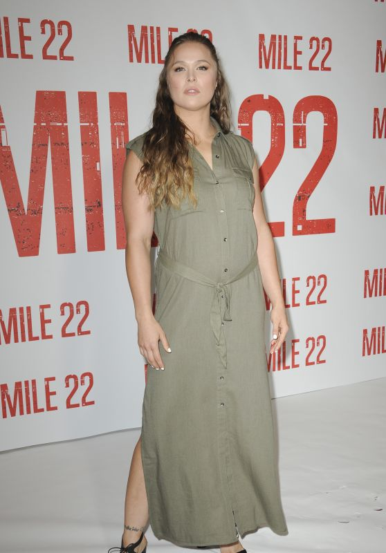 "Ronda Rousey - ""Mile 22"" Photocall in Los Angeles"