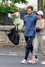 """Roxanne Pallett - Returning Home After """"Near Death Experience"""" in York City"""