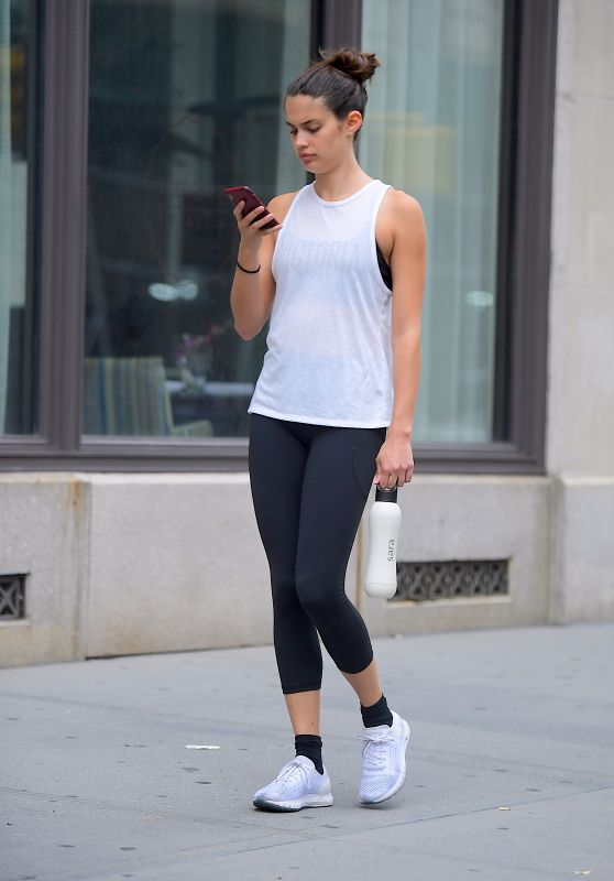 Sara Sampaio in Leggings - Out in New York 07/15/2018
