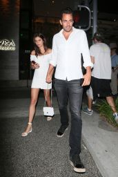 Sara Sampaio - Leaving Avra Beverly Hills Celebrating Her 27th Birthday Party in Beverly Hills