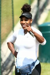 Serena Williams Arrives at the Aorangi Practice Courts in London 07/13/2018