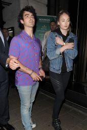 Sophie Turner and Joe Jonas at Novikov Restaurant in London 07/17/2018