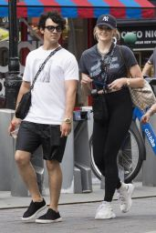 Sophie Turner in Tights Out in NYC 07/24/2018