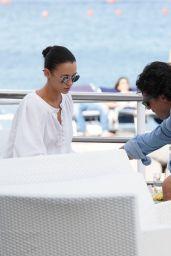Stefania Seimur at the Queen Isabella Hotel in Ischia 07/23/2018
