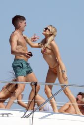 Stephanie Pratt Bikini Candids - On a Yacht in Formentera 07/28/2018