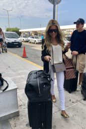 Sylvie Meis in Travel Outfit - at Mykonos Airport 07/26/2018