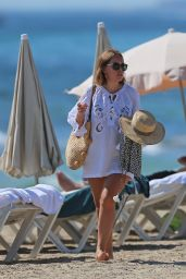 Tanya Burr in Bikini - Beach in Ibiza 07/24/2018