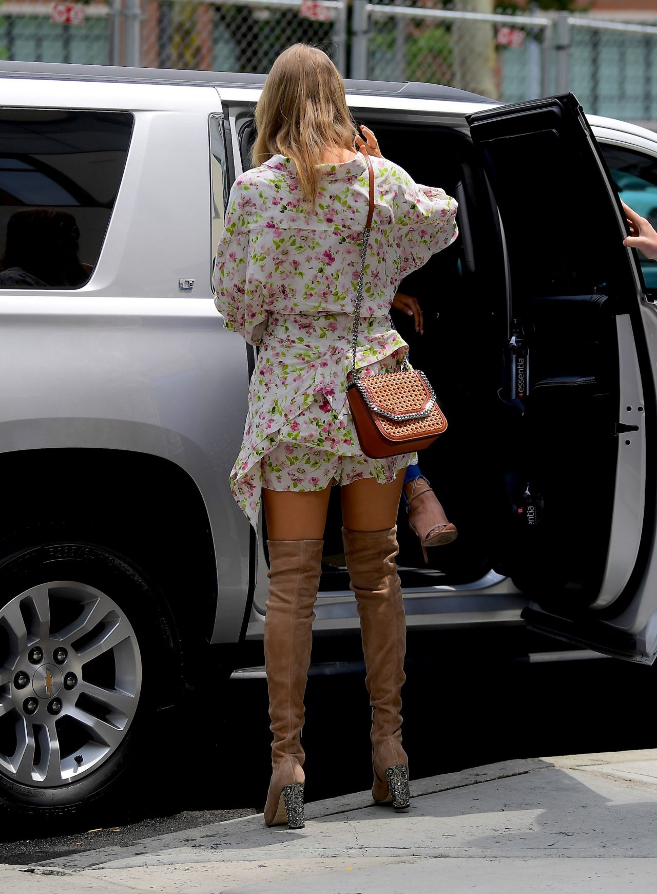 Taylor Swift In A Floral Dress And Large Sunglasses NYC