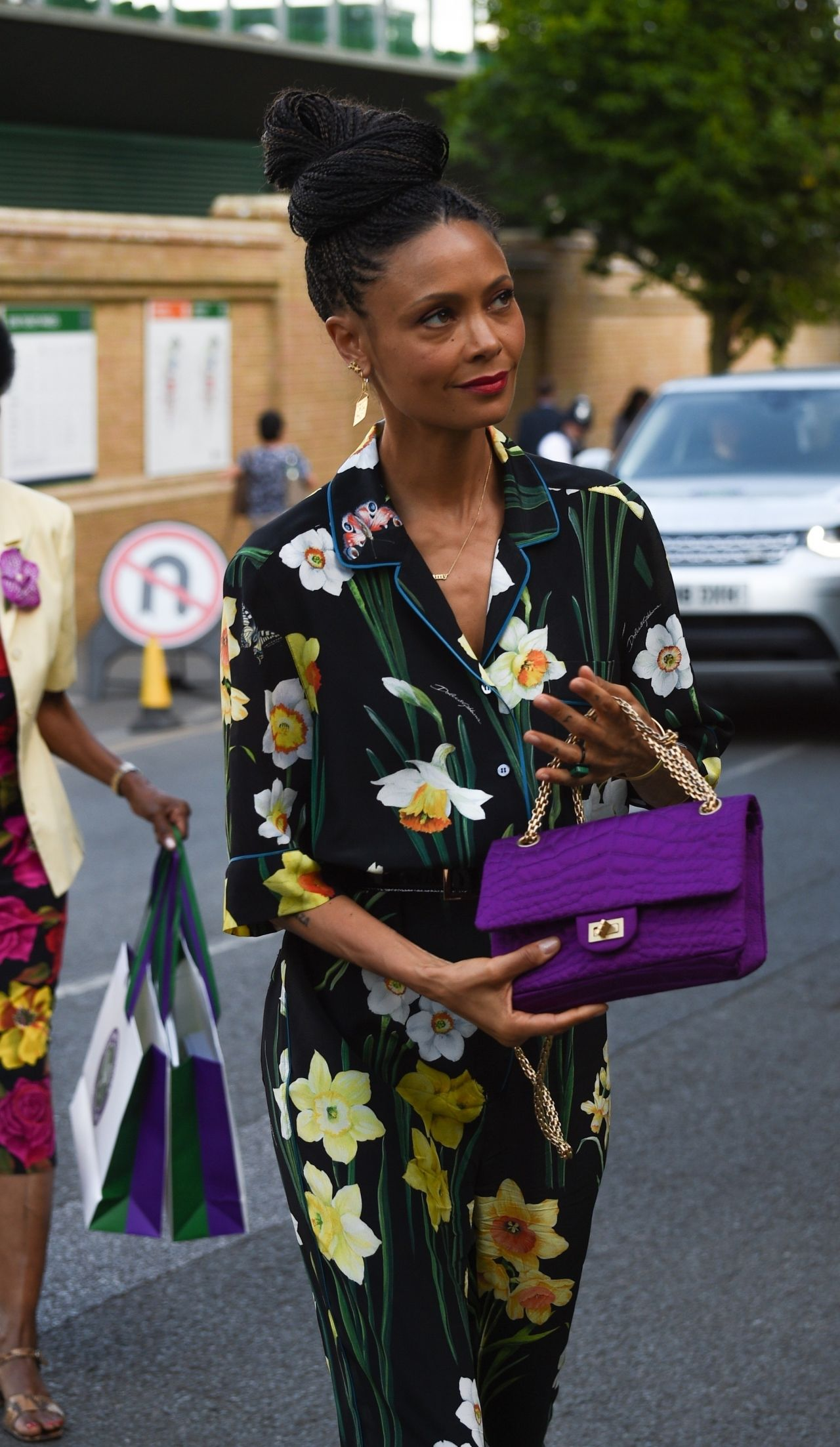 images Thandie newton leaves a studio after filming actors on actors in la april 2019