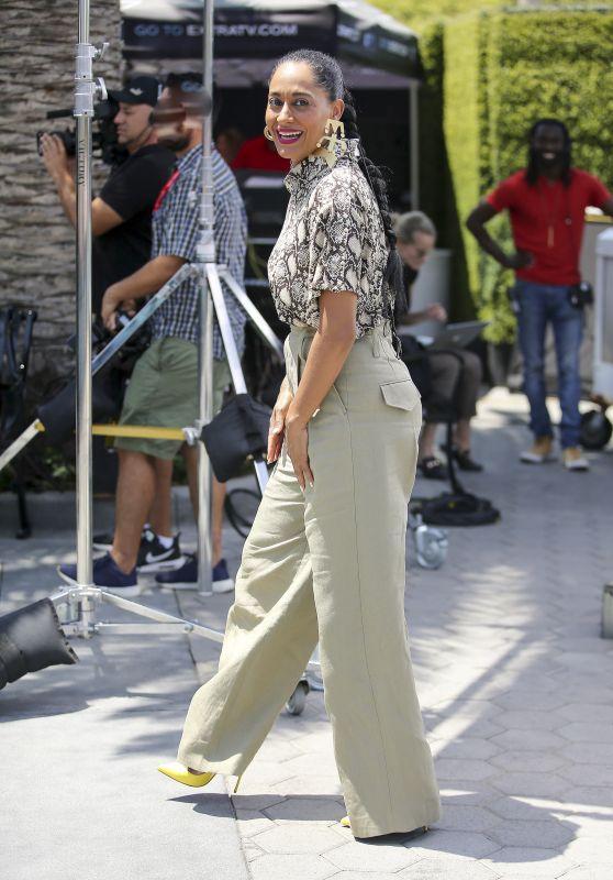 "Tracee Ellis Ross on ""Extra TV"" in LA 07/19/2018"