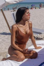 Yovanna Ventura in Swimsuit on the Beach in Miami Beach 07/14/2018