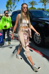 Alessandra Ambrosio New Hairstyle - Vun Nuys Airport in Los Angeles 08/29/2018