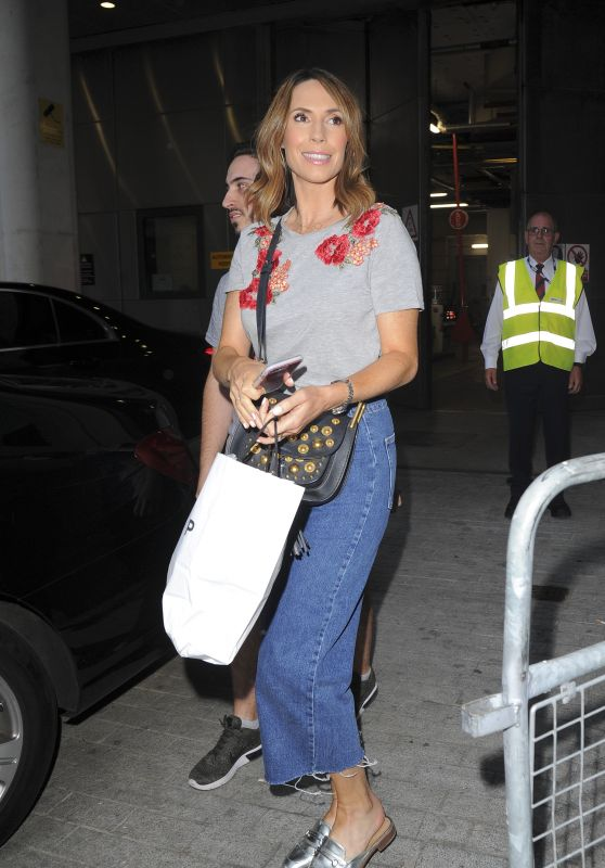 Alex Jones - Leaving The One Show Studios in London 08/08/2018