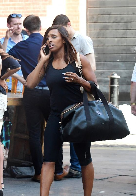 Alexandra Burke - Leaving a Gym in Soho 08/07/2018