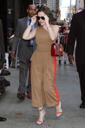 Alyssa Milano Arrives at GMA in NYC 08/06/2018