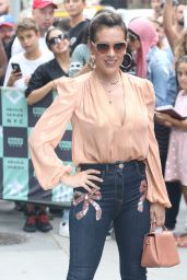 Alyssa Milano at BUILD Series in NYC 08/07/2018