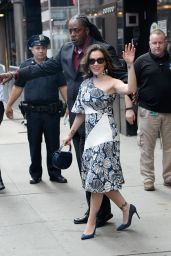 Alyssa Milano - Coming out of GMA in NY 08/06/2018