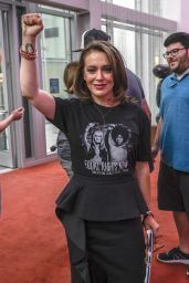 Alyssa Milano - Speaks at the Rise Up For Roe Tour in Las VegaS 08/20/2018