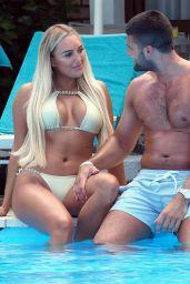 Amber Turner in Bikini - Poolside in Greece 08/19/2018
