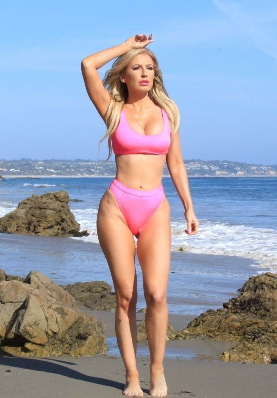 Ana Braga - Beach Photoshoot in Malibu 08/12/2018