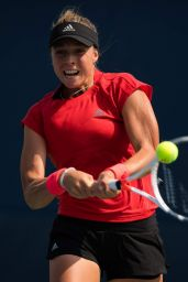 Anett Kontaveit – Practices Ahead of the 2018 US Open in NYC