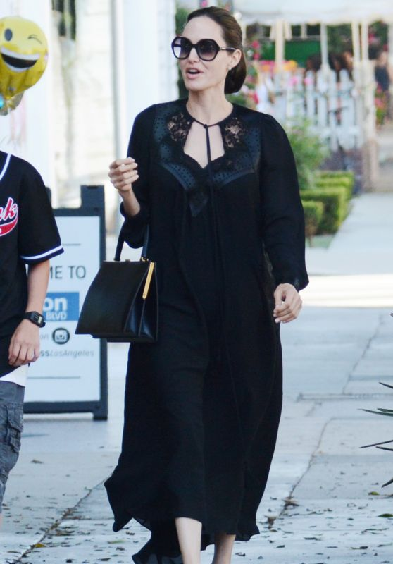 Angelina Jolie at Kitson Store in West Hollywood 08/21/2018