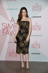 """Anna Kendrick – """"A Simple Favor"""" Cocktail Party in New York"""