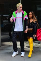 Ariana Grande and Pete Davidson in New York City 08/18/2018