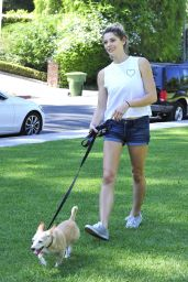 Ashley Greene - Walking Her Dog in Beverly Hills 08/07/2018