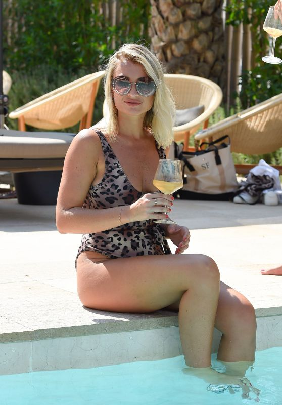 Billie Faiers in Swimsuit in Ibiza 08/23/2018