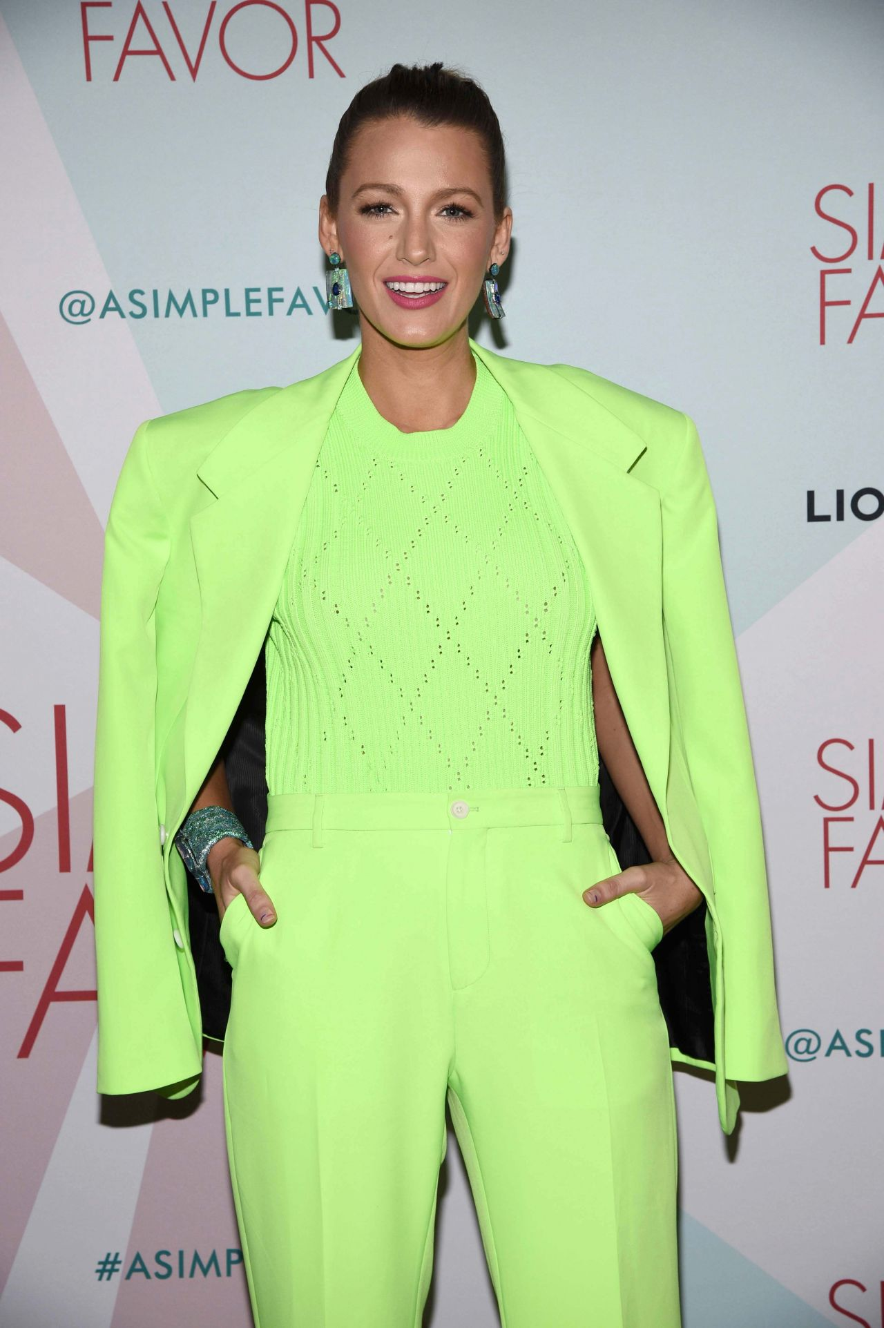 blake lively a simple favor cocktail party in new york. Black Bedroom Furniture Sets. Home Design Ideas